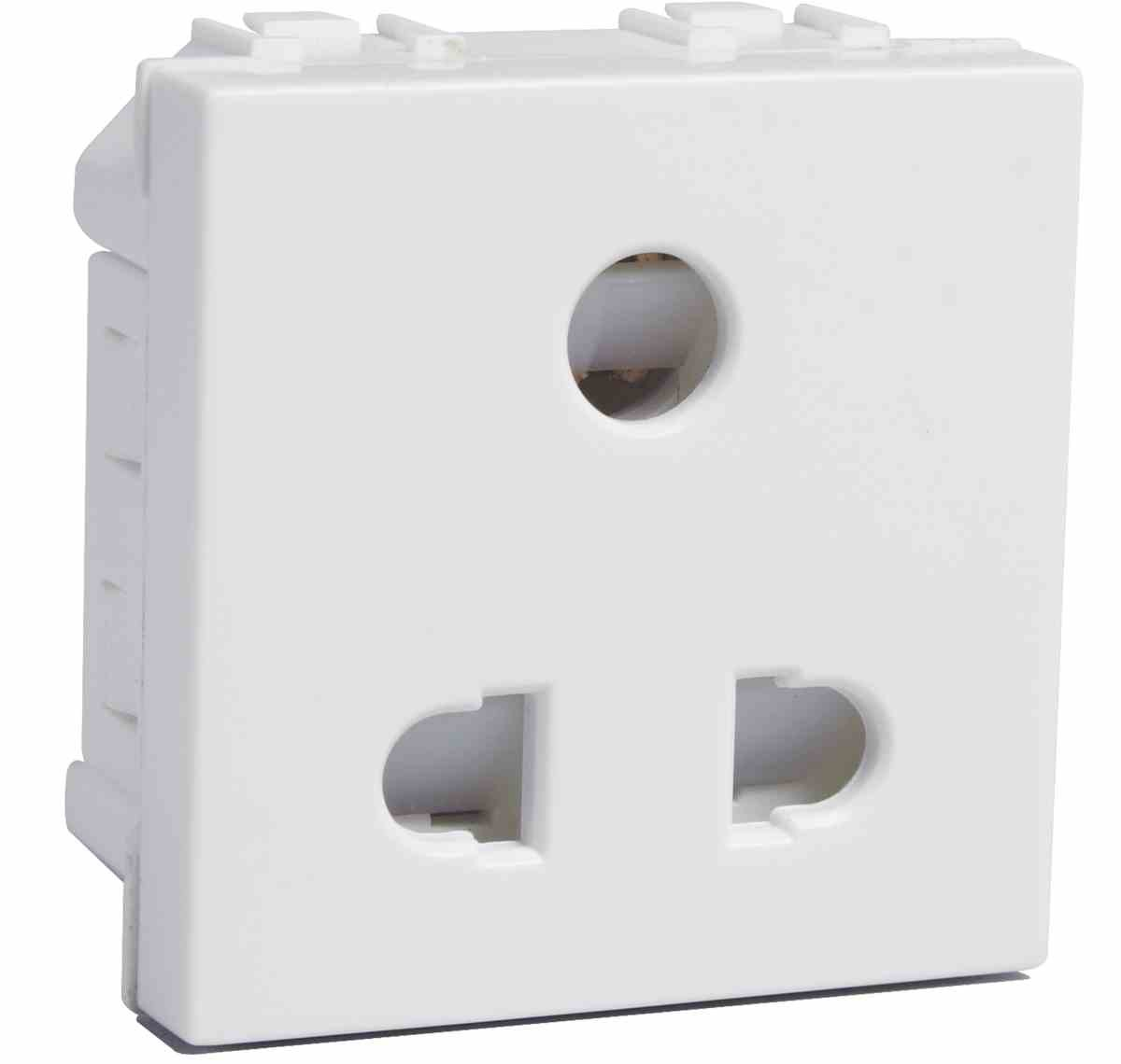 6a 2 Module Three Pin Shuttered Socket - Electrical and Networking ...