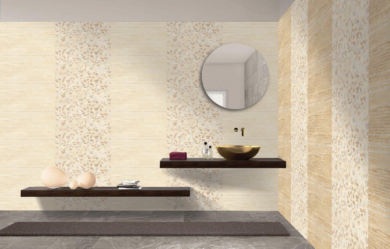 300 X 600 mm Ornate Brown-Matt Finish - Wall Finishing, Wall Tiles ...