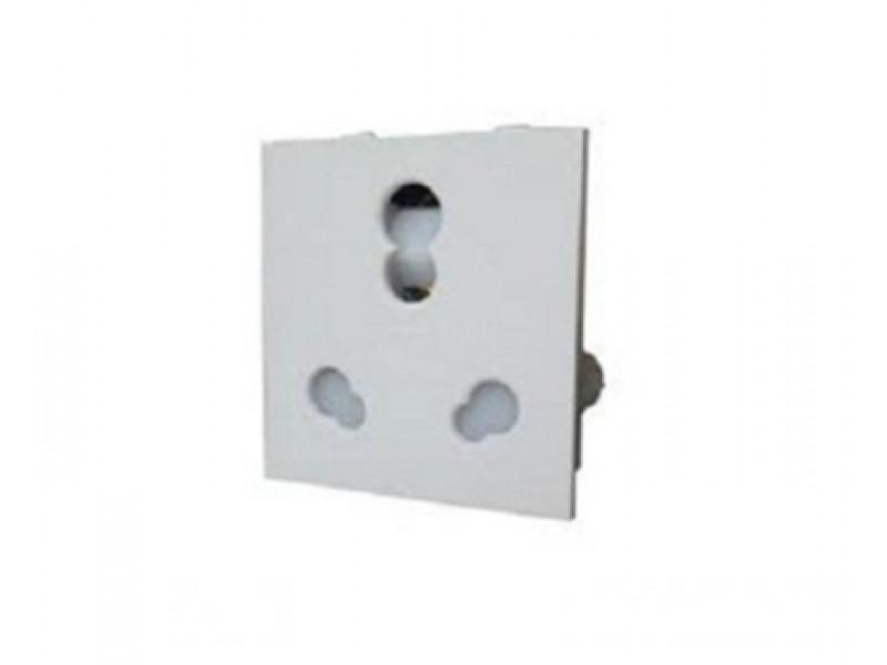 6A 2 Module 3 Pin Shuttered Socket - White ACTKSXW063 - Electrical ...