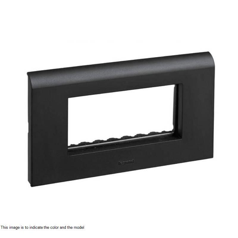 4 Module Black Plate with Frame 673224 - Electrical and Networking ...