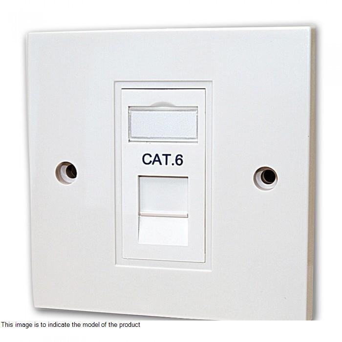 RJ 45 Cat 6 Socket with Shutter (Grey) - 676340 - Electrical and ...