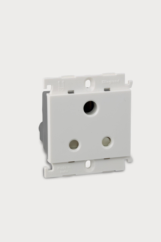 6A 2 Module Universal Socket, Pin Combined (White) 675552 ...